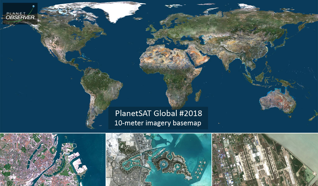 Release of New, Accurate and Recent Global Imagery Mosaic