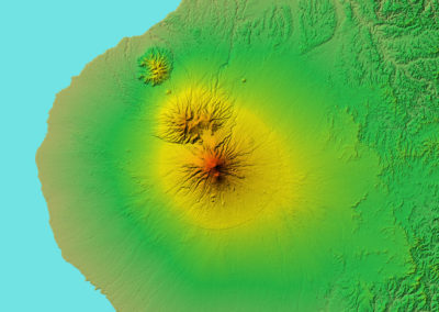 Global Elevation PlanetDEM 30 Plus - Mount Taranaki, New Zealand