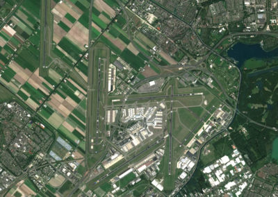 Satellite Image PlanetSAT Global - Amsterdam Airport, Netherlands - 10m