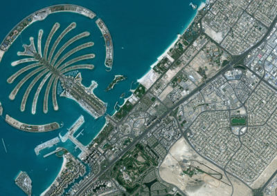 Satellite Image PlanetSAT Global - Dubai, UAE - 10m